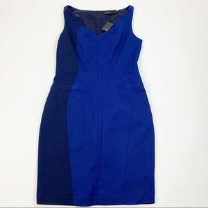 Tahari Colorblock Kalona Sleeveless Dress D3906